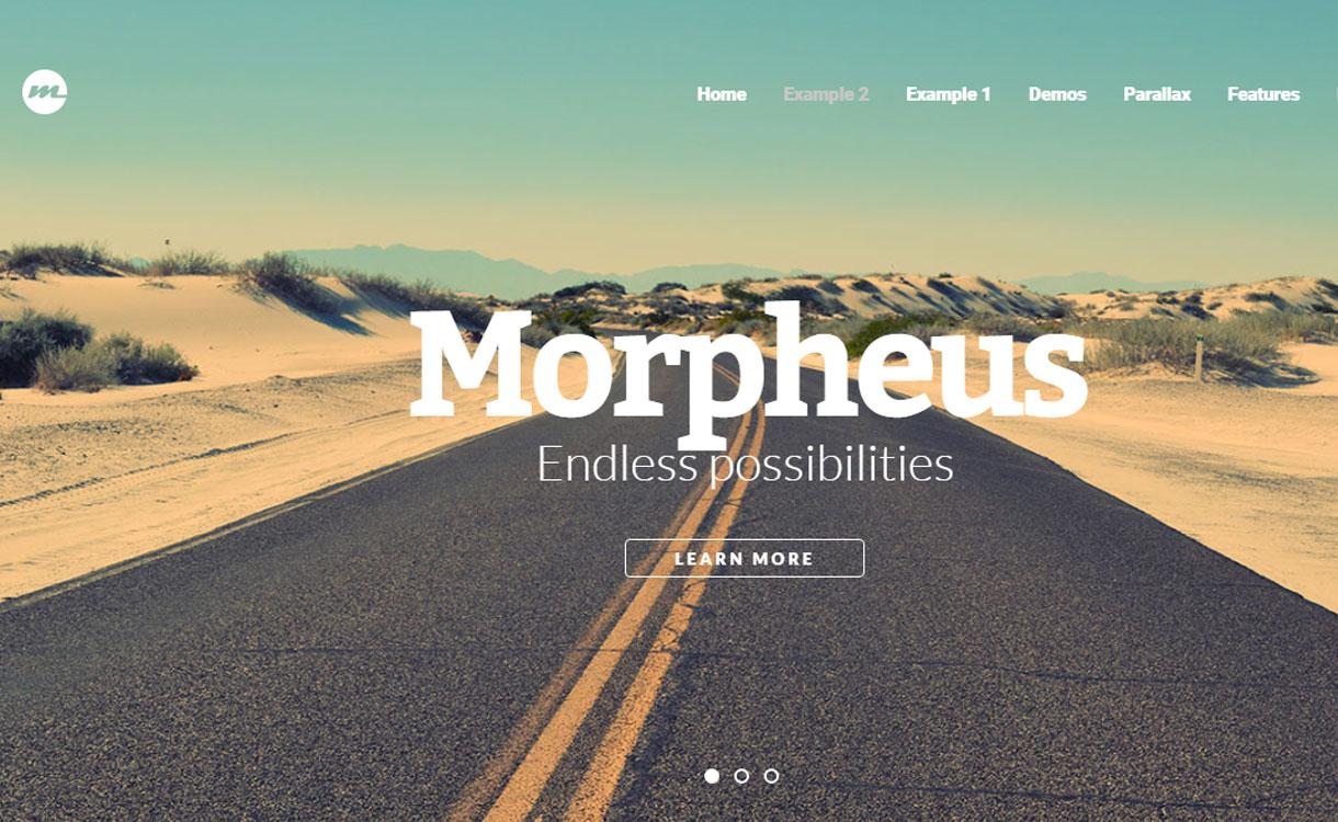 Morpheus - 15+ Best Premium WordPress One Page Themes 2019