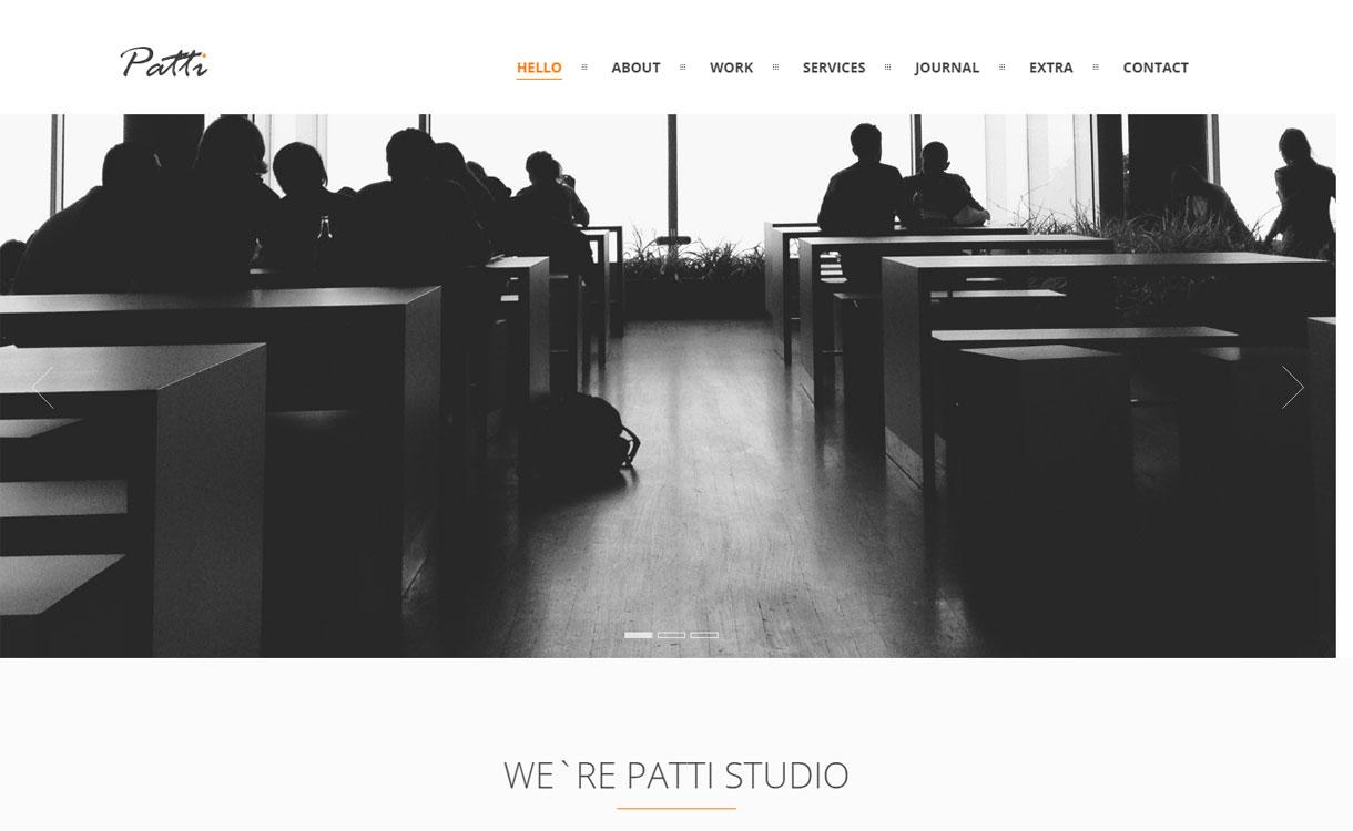 Patti - 15+ Best Premium WordPress One Page Themes 2019