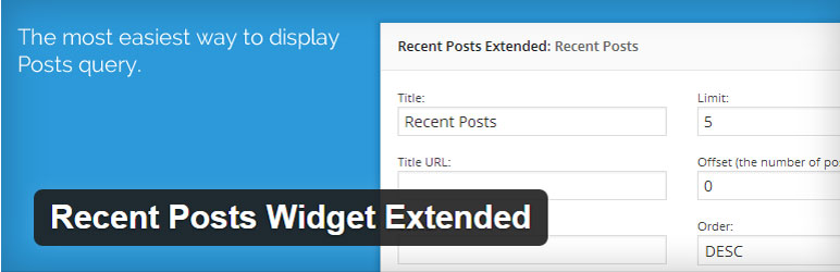 Recent Posts Widget Extended - Free WordPress Plugin
