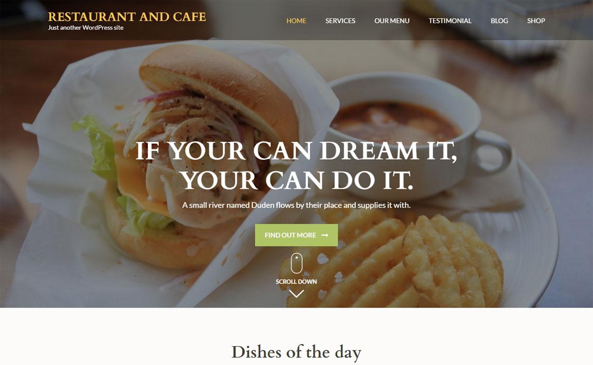 Restaurant & Cafe - Free Food Magazine Theme