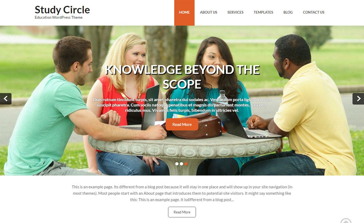 Study Circle - 30+ Best Free Education WordPress Themes 2019