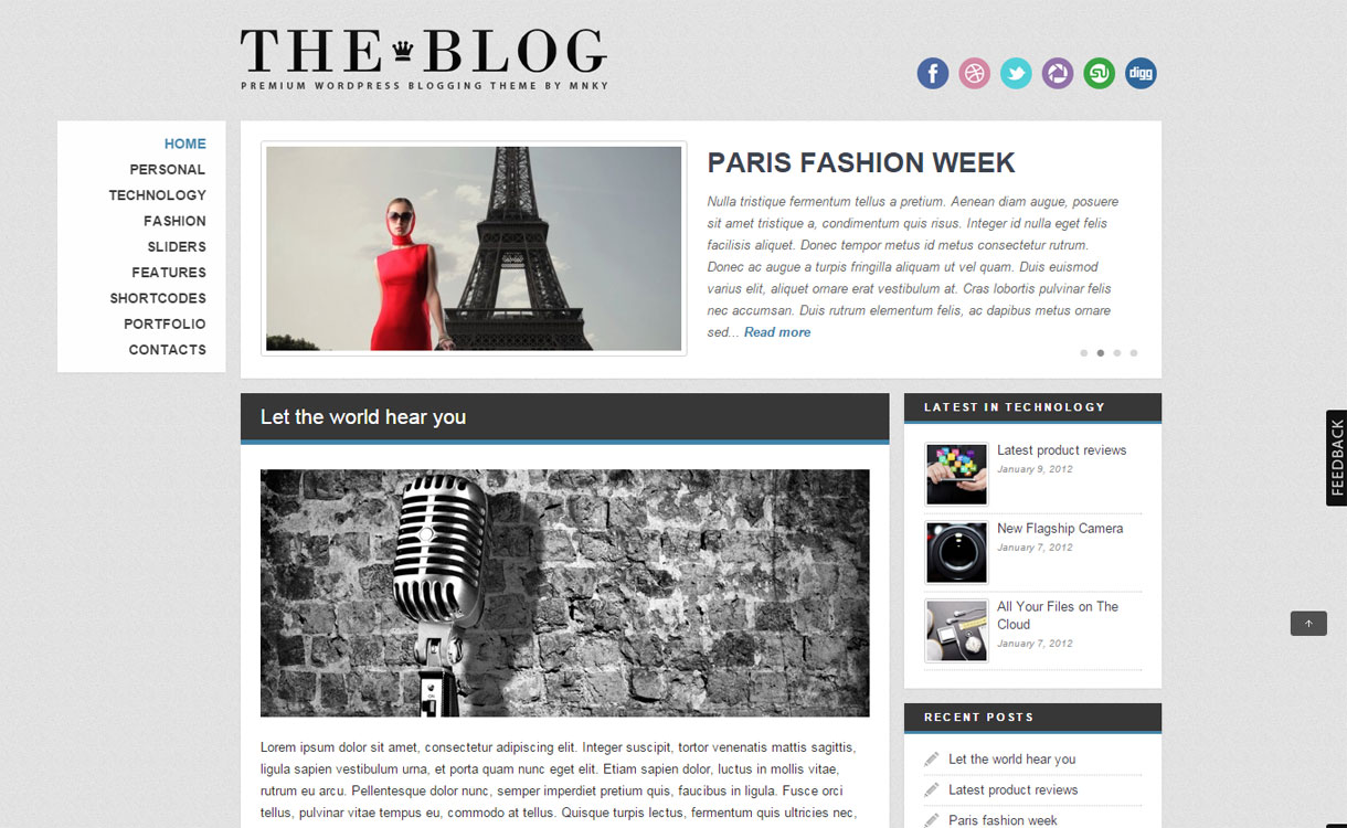The Blog - Premium powerful WordPress Theme