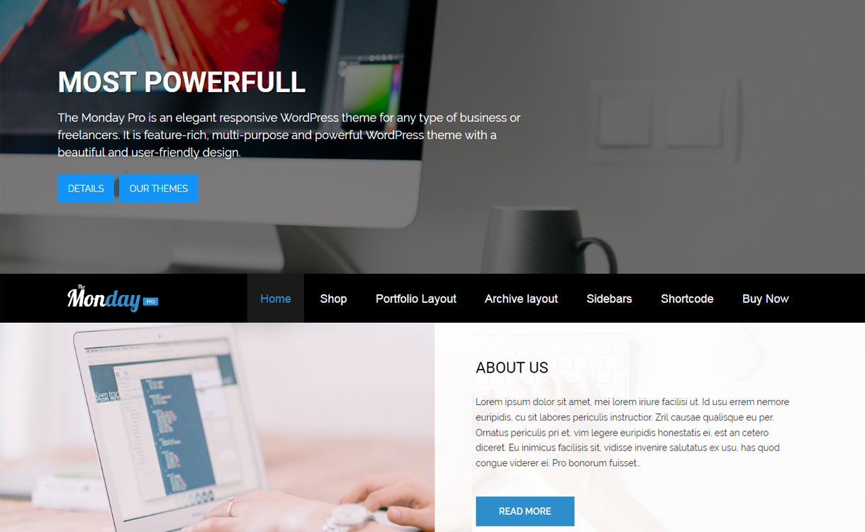 The Monday Pro - 30+ Best Premium WordPress Business/Agency Themes for 2019