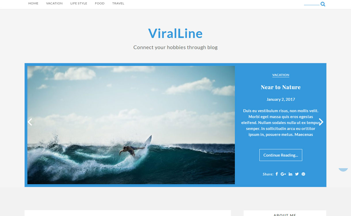 Viralline - Free WordPress Blog Theme