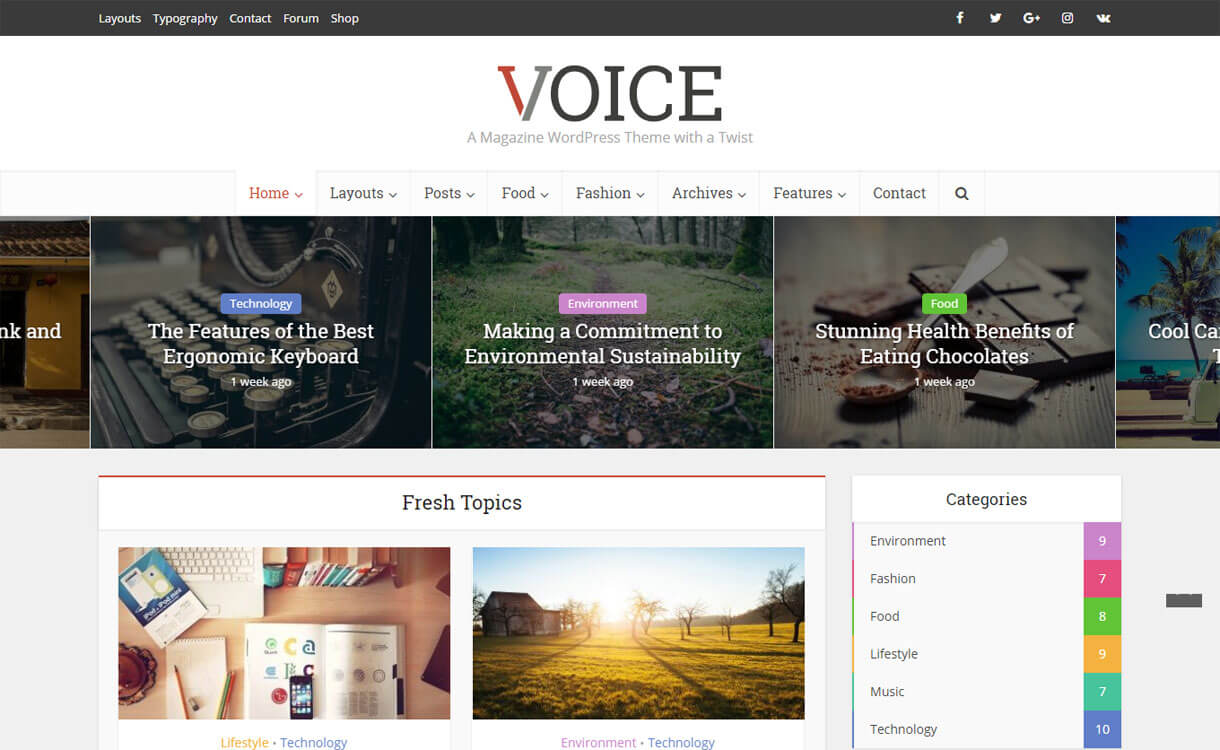Voice - 21+ Best Premium WordPress News/Magazine/Editorial Themes 2019