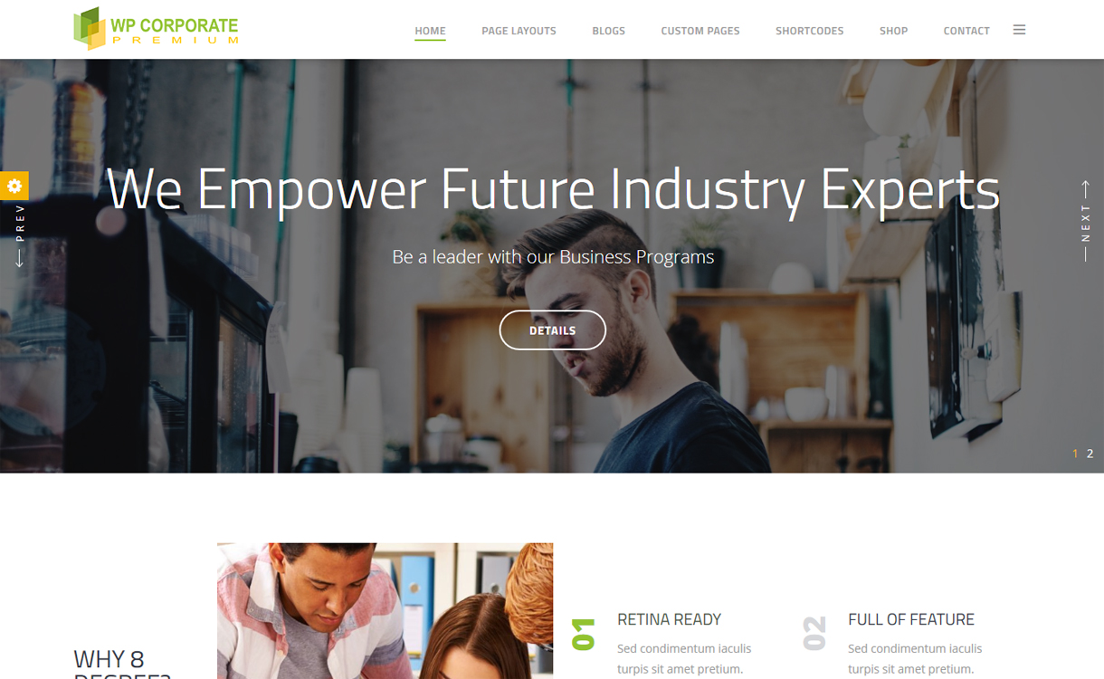 WP Corporate Pro Premium WordPress Business Theme - 30+ Best Premium WordPress Business/Agency Themes for 2020