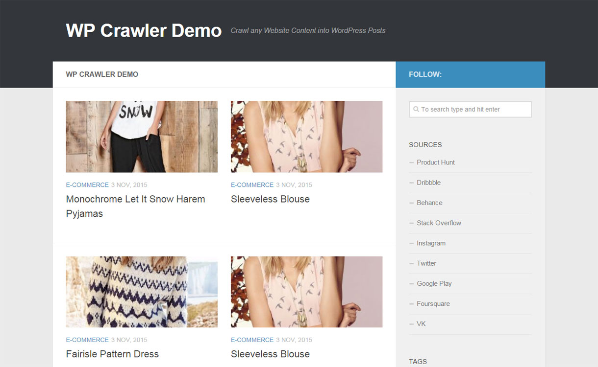 WP Crawler- Premium Content Manager Plugin