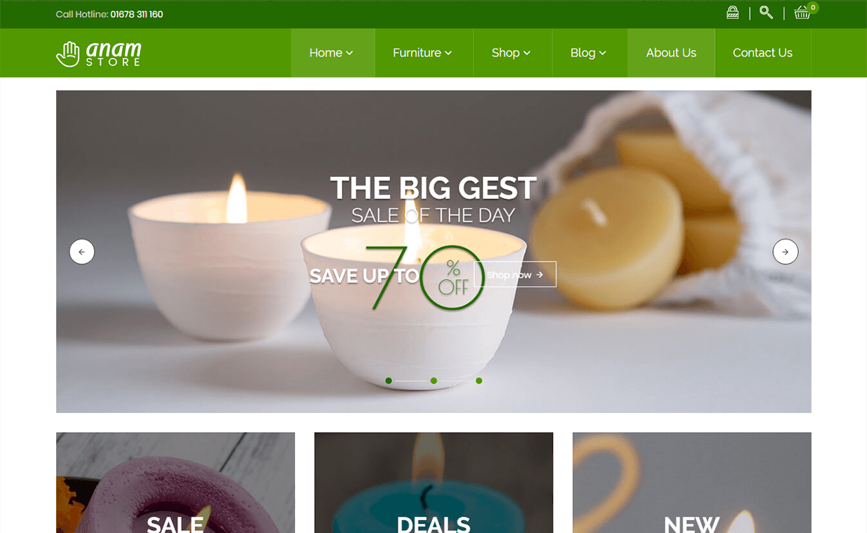 Adnam-Best Premium WordPress eCommerce WooCommerce Online Store Themes 2018