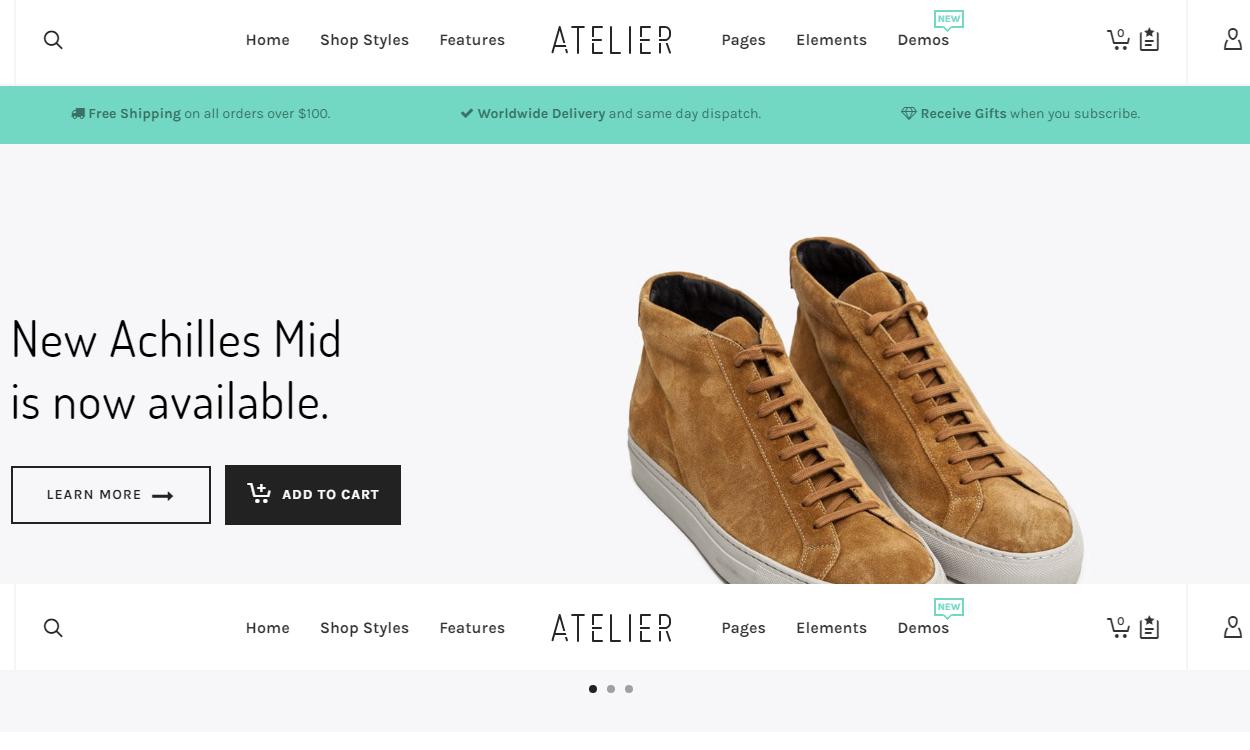 atelier - 30+ Best Premium WordPress eCommerce/WooCommerce/Online Store Themes 2019