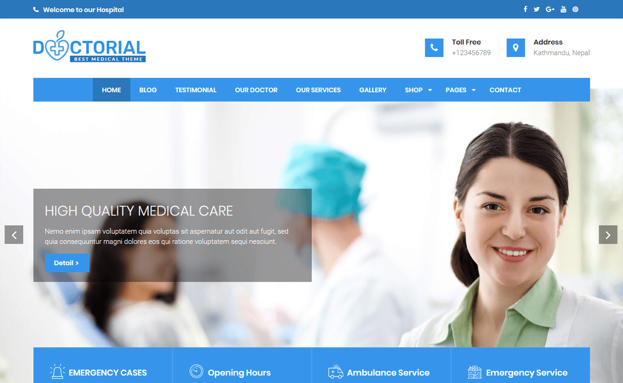 doctorial best free medical wordpress themes - 23+ Best Free WordPress Health and Medical Themes 2020