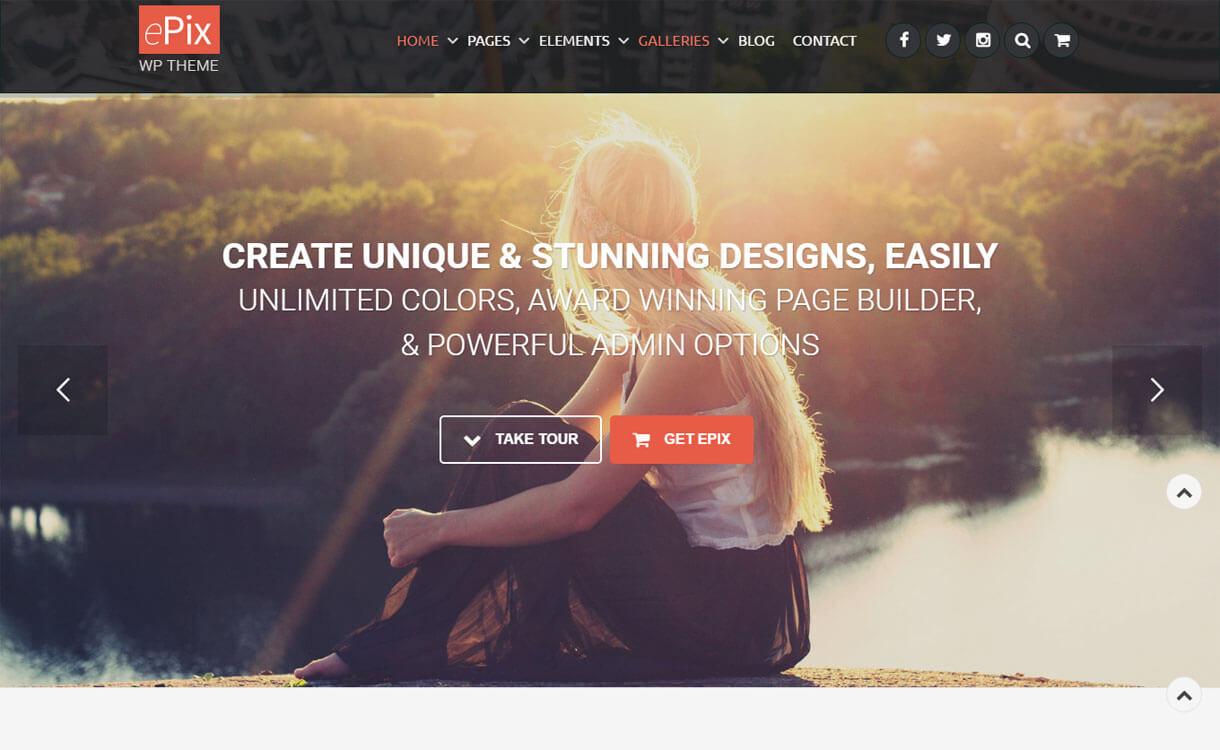 ePix - 30+ Best Premium WordPress Photography Themes 2019