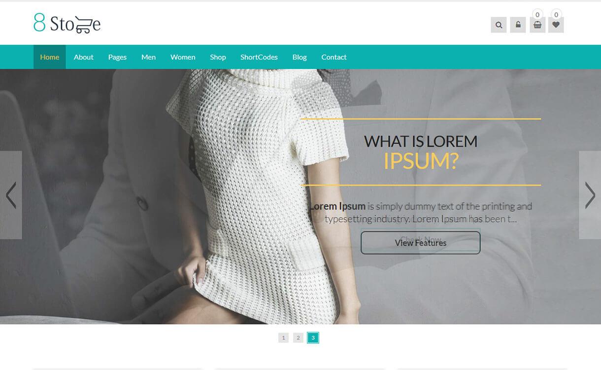 EightStore Pro-Best Premium WordPress eCommerce WooCommerce Online Store Themes 2018