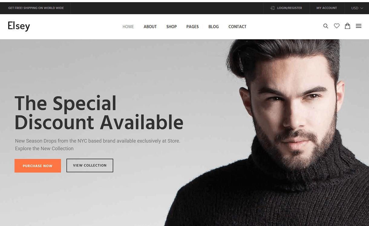 elsey - 30+ Best Premium WordPress eCommerce/WooCommerce/Online Store Themes 2019