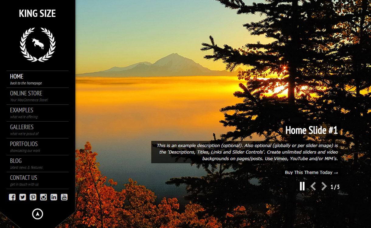 King Size - Best Premium WordPress Photography Themes