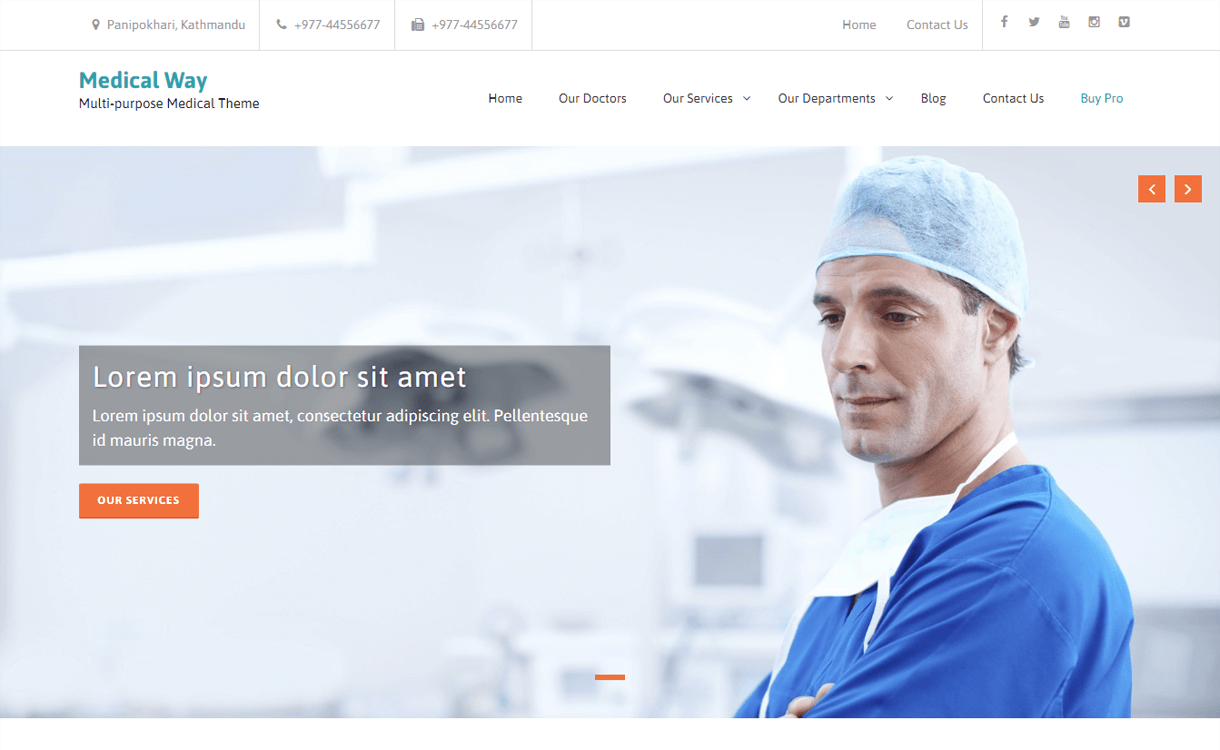 medical way best free medical wordpress themes - 23+ Best Free WordPress Health and Medical Themes 2020