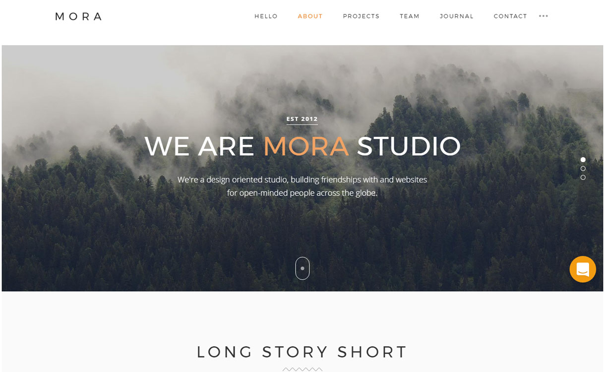 Mora - Best Premium WordPress Photography Themes