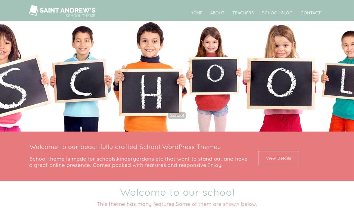 school best free education WordPress theme - 30+ Best Free Education WordPress Themes 2019