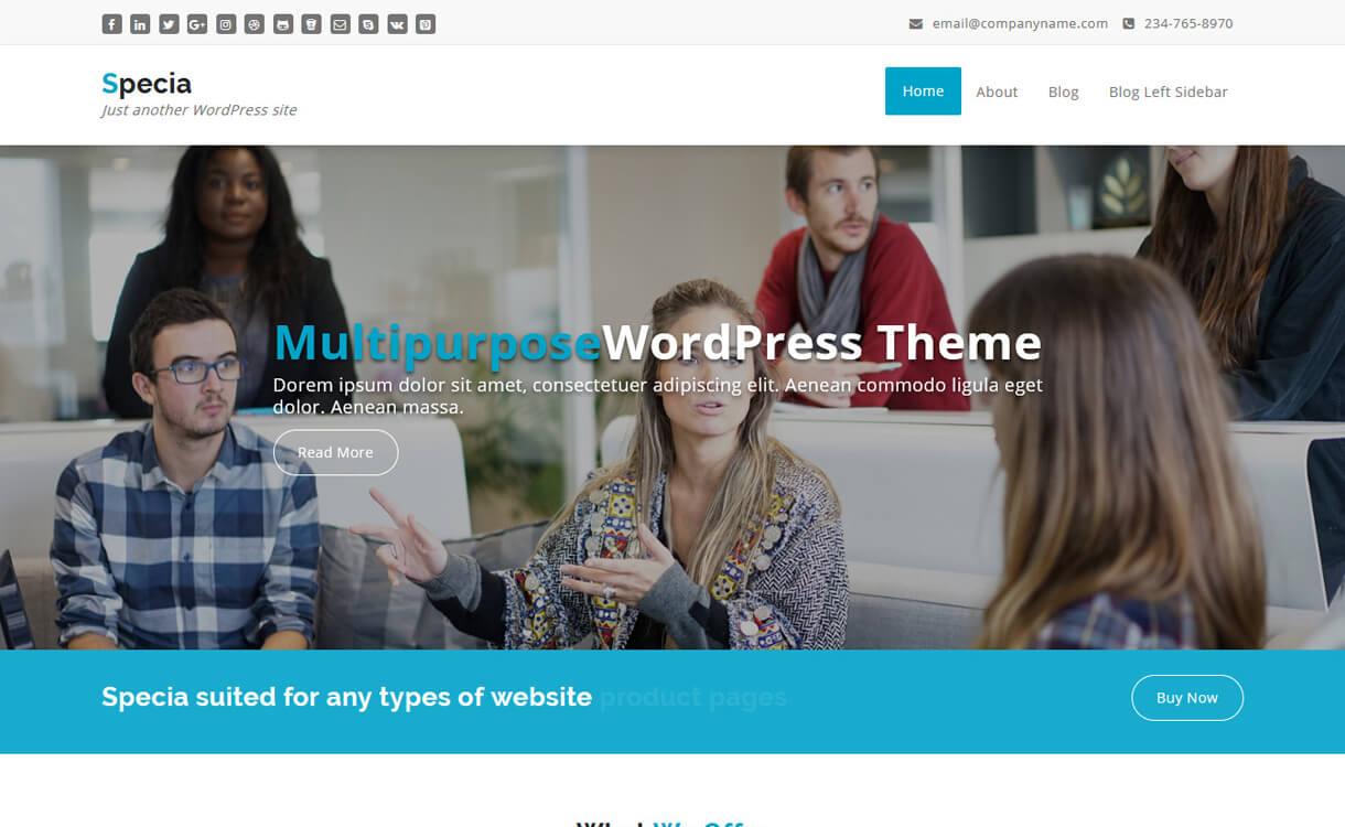 Specia-Best Free WordPress Health Medical Theme