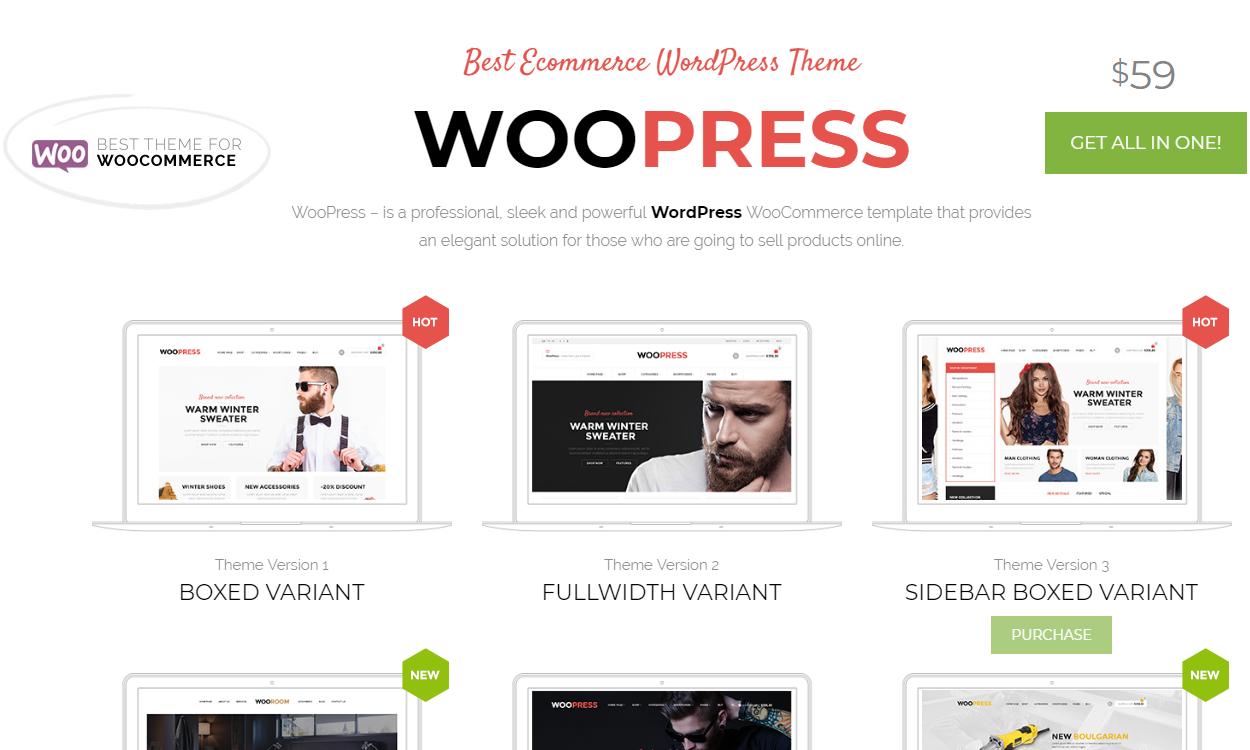 woopress - 30+ Best Premium WordPress eCommerce/WooCommerce/Online Store Themes 2019