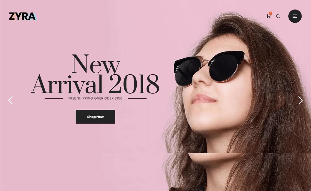 Zyra-Best Premium WordPress eCommerce WooCommerce Online Store Themes 2018