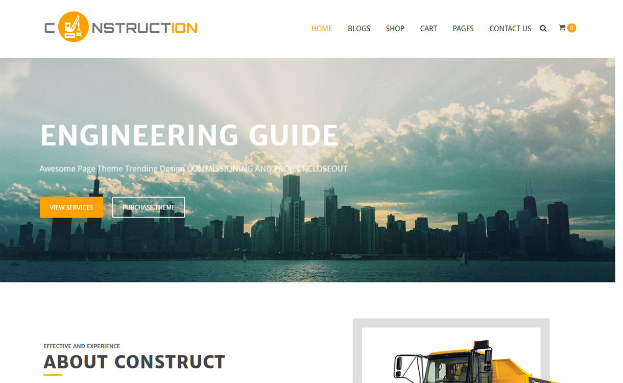 Construction - Free Construction WordPress Theme