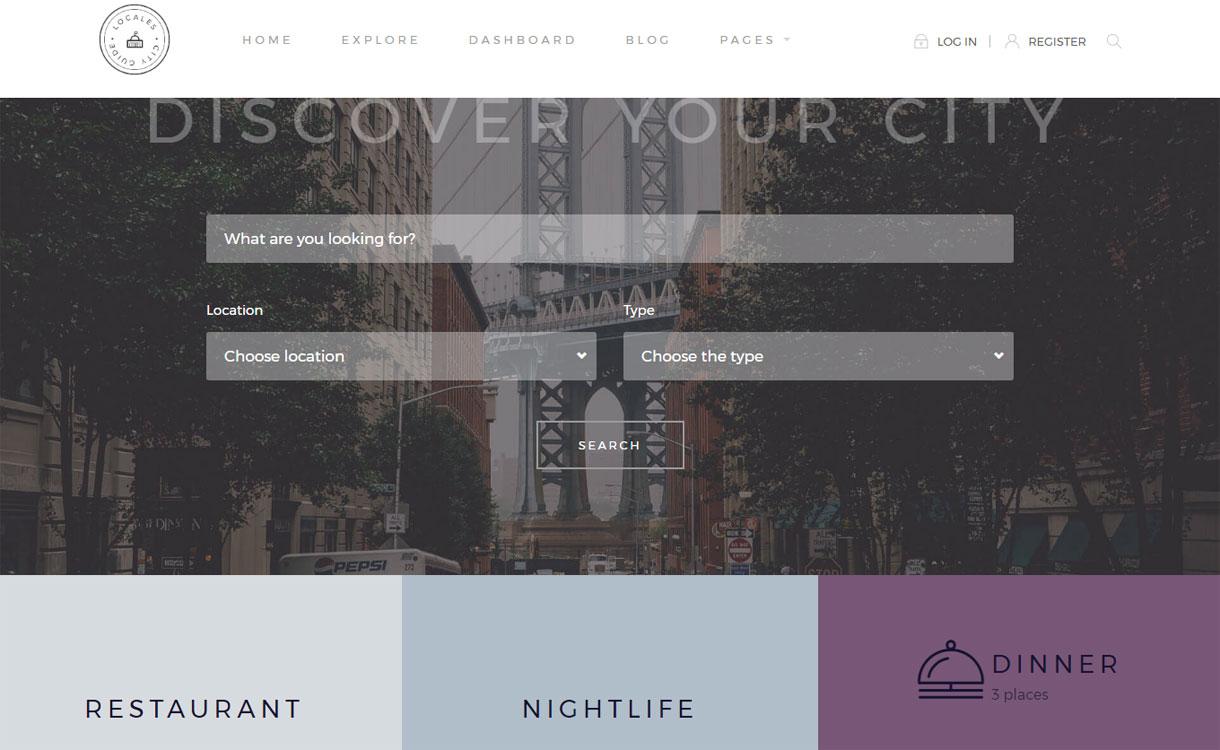 Locales - City Guide WordPress Theme