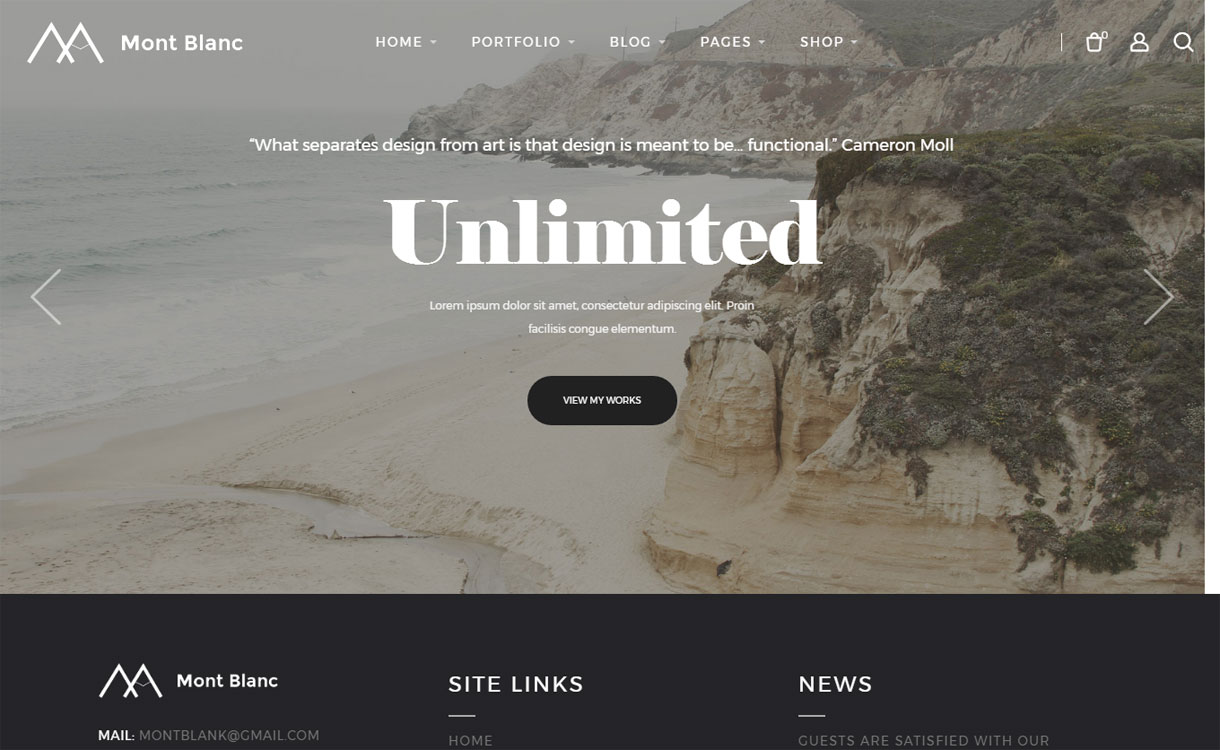 Mont Blanc - Powerful Multipurpose WordPress Theme