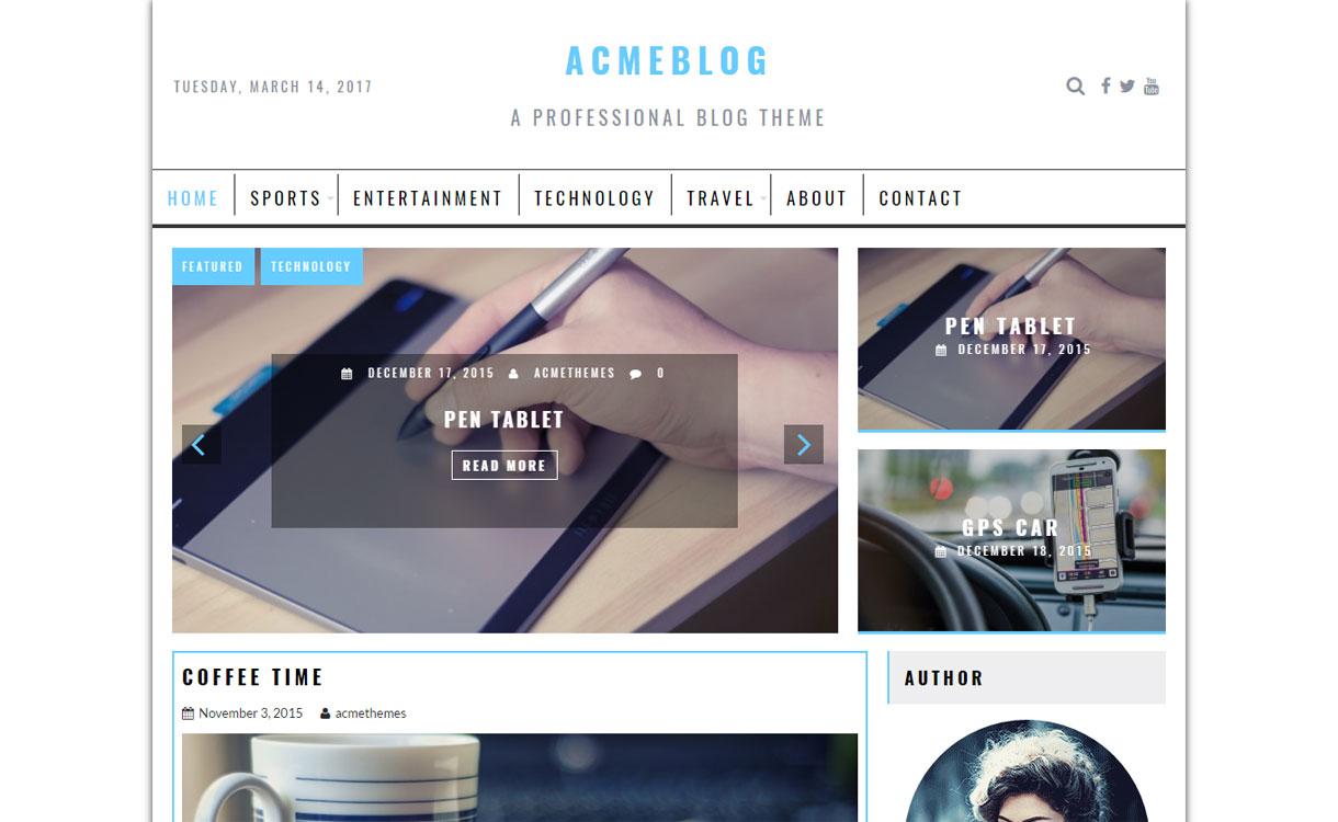 AcmeBlog - WordPress Blog Theme
