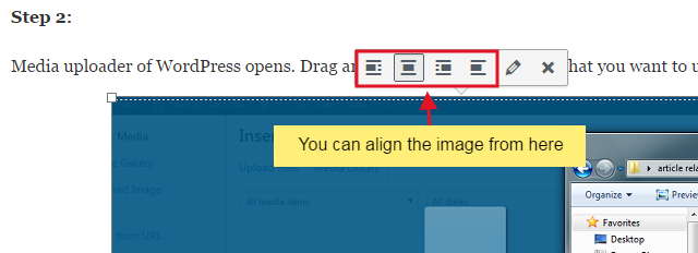 add image step 4 - How to create your first WordPress post?