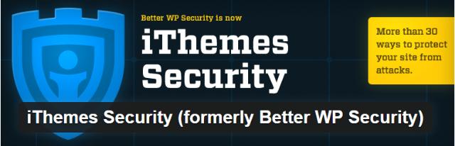 iThemes Security - Top 5 Premium iThemes WordPress security plugins