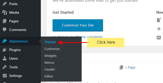step 1 1 - How to install new WordPress Theme in your website