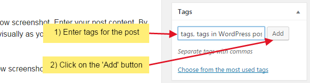 step 1 7 - How to add tags to your WordPress post