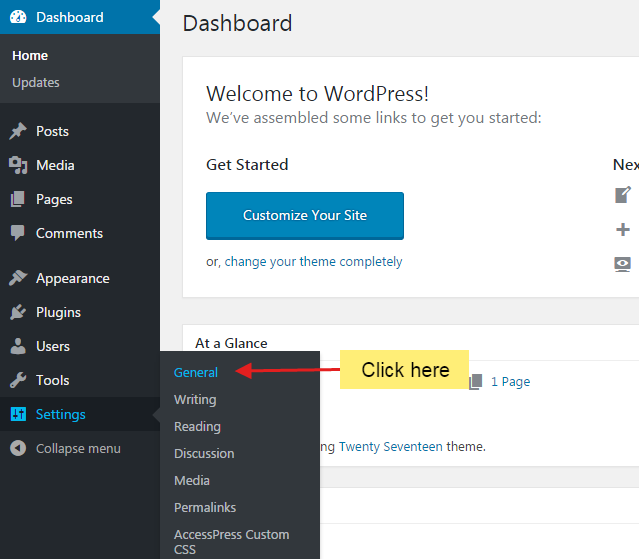 step1 1 - How to change admin email of your WordPress website