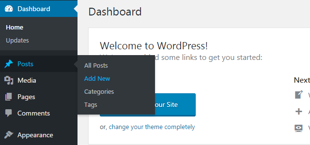 step1 2 - How to create your first WordPress post?