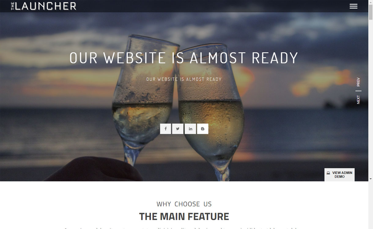 the launcher free multipurpose wordpress theme - 10+ Best Coming Soon and Under Maintenance WordPress Themes and Templates(Premium Version)