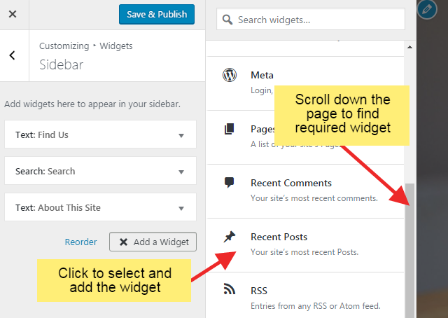 w4step5 1 - How to Add Widgets in WordPress website