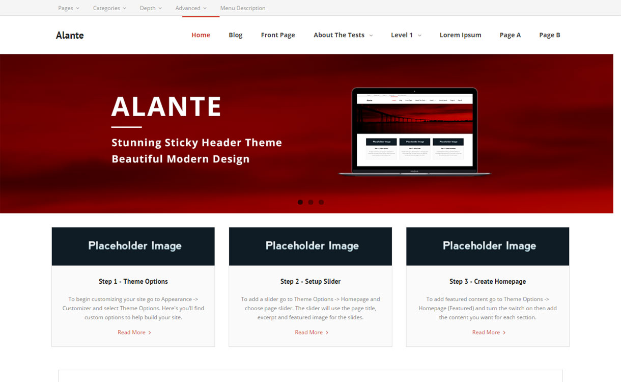 Alante Free Multipurpose WordPress Theme
