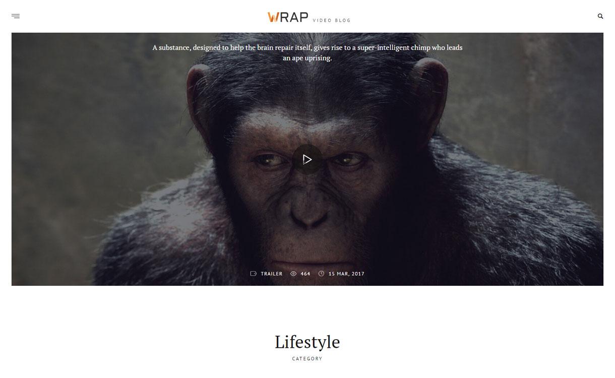 It-is-a-Wrap - Premium Video Blogging Theme