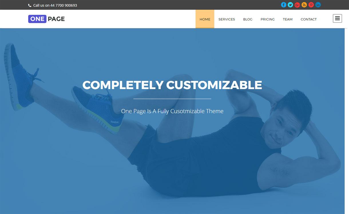One Page - Free one page WordPress theme