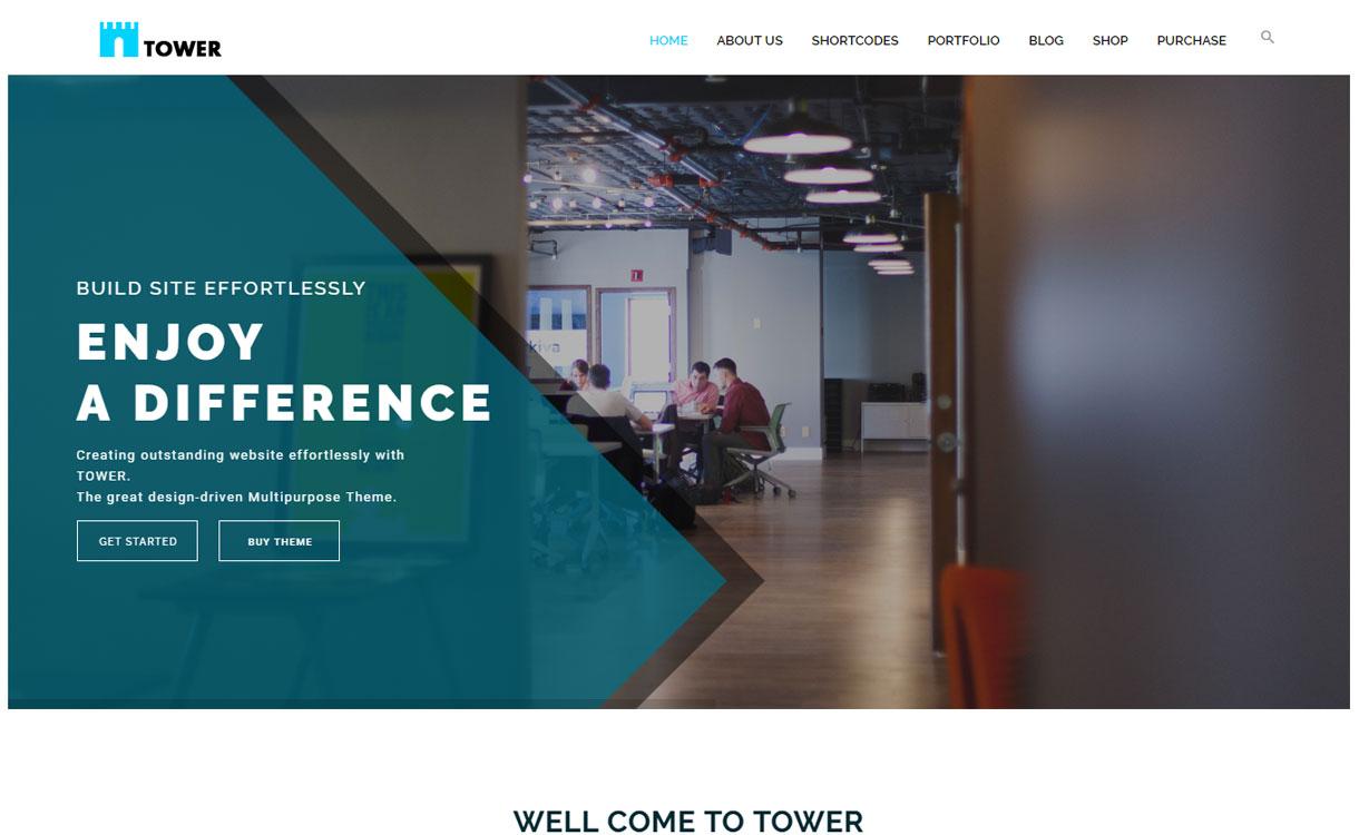 Tower WP - responsive business WordPress theme