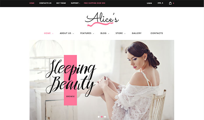 alices - Top 20 Best Selling WordPress Themes in Themeforest 2019