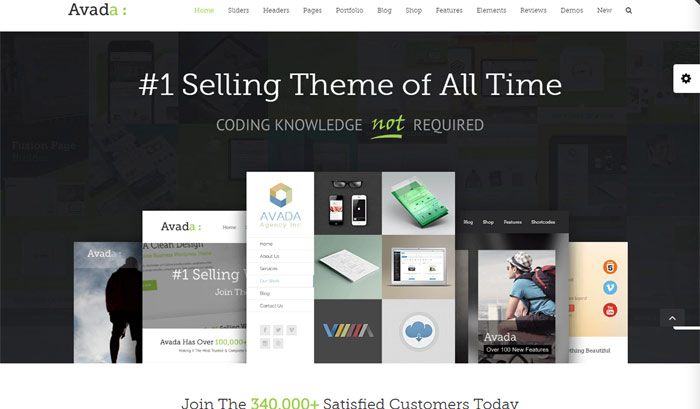 avada responsive multipurpose theme 1 - Top 20 Best Selling WordPress Themes in Themeforest 2019
