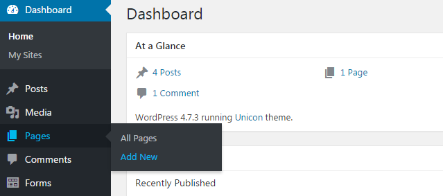 step 1 - How to use page template in your WordPress website