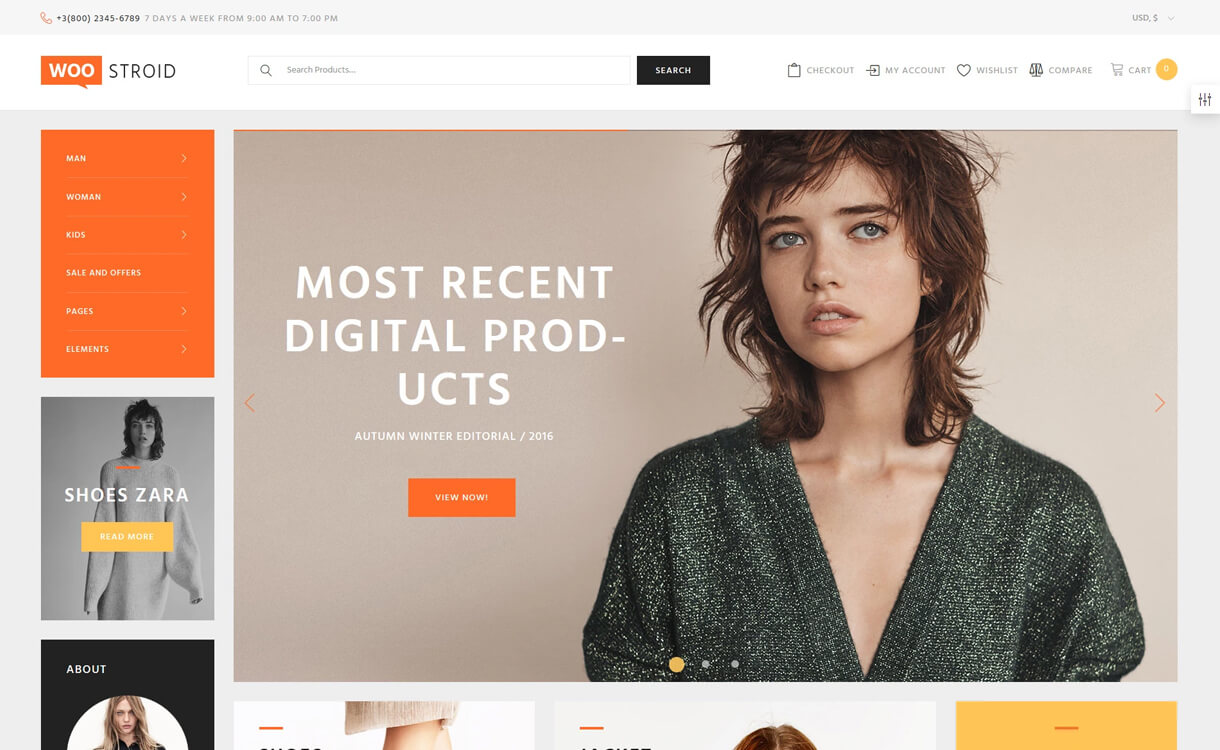 Woostroid - Premium WordPress WooCommerce Theme