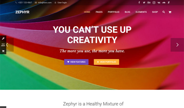 zephyr - Top 20 Best Selling WordPress Themes in Themeforest 2019