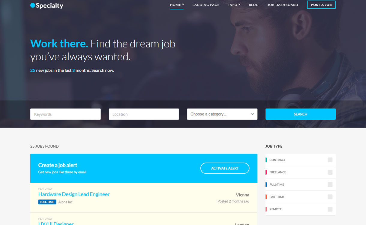 Specialty - Premium Job Board WordPress Theme