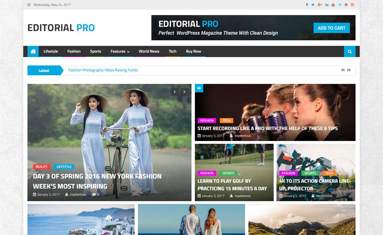 Editorial Pro - Premium Magazine WordPress Theme