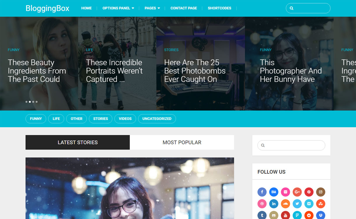 Blogging Box - Multipurpose WordPress Blogging Theme