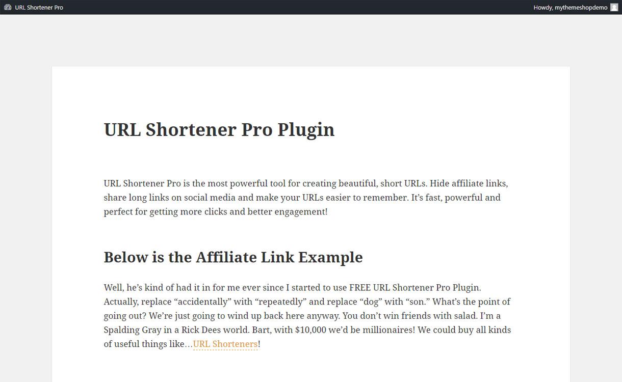 URL Shortener Pro - Premium URL Shortener Plugin