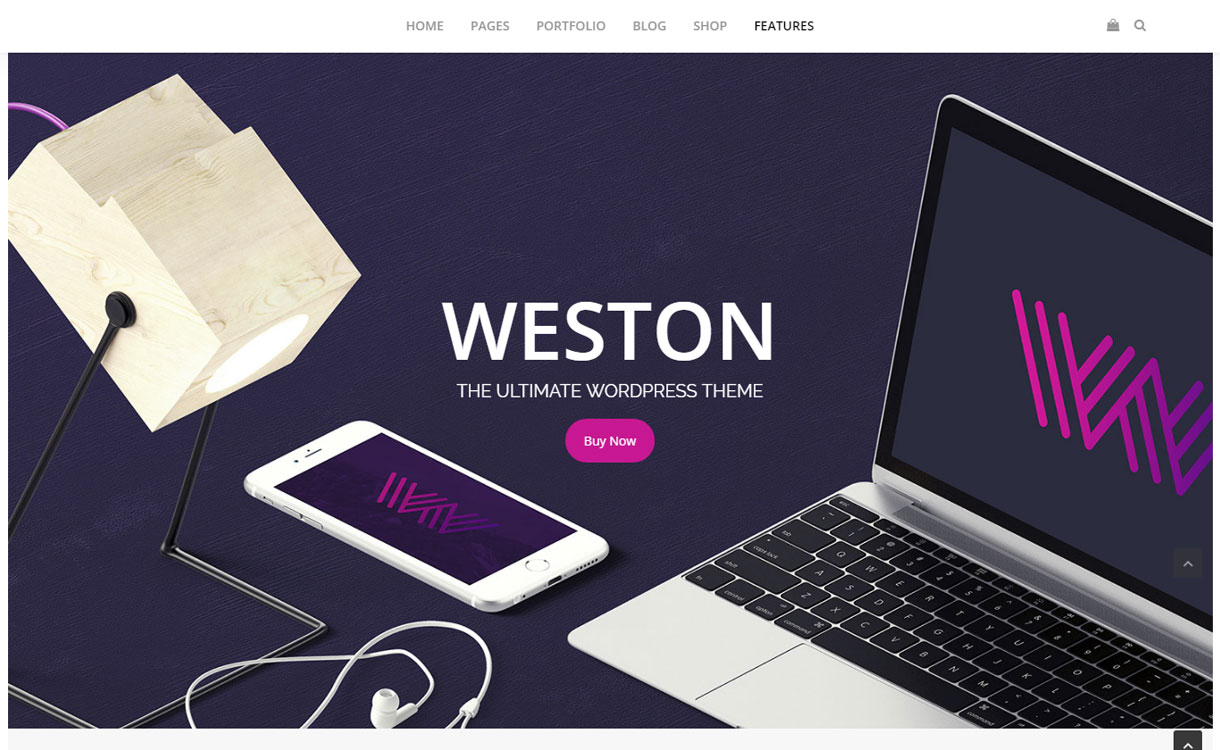 Weston - Premium Parallax WordPress Theme